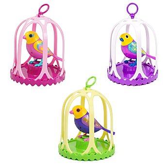 DIGIBIRDS Mascota interactiva que canta de verdad, incluye jaula y un anillo-silbato para sostenerlo y jugar Digibirds con jaula 1 unidad