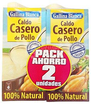 Gallina Blanca Caldo de pollo Pack 2x1 litro