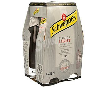 Schweppes Tónica Light 4 latas de 25 cl