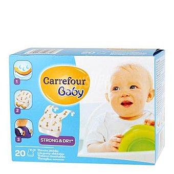 Carrefour Baby Baberos desechables Paquete de 20 uds