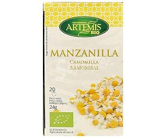 Artemis Bio Manzanilla infusión procedente de agricultura ecológica 20 bolsitas de 24 g