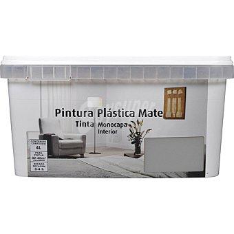 Pintura plástica mate monocapa para interior color gris niebla 4 litros