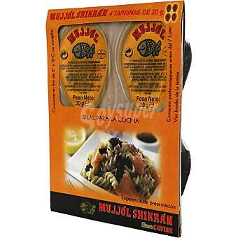 Eurocaviar Mujjól Shikrán Huevas de Mujjól y Arenque (Sucedáneo del Caviar) Pack 4 envases 20 g