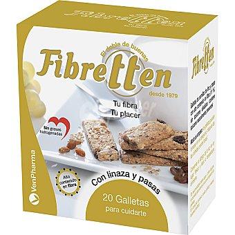 FIBRETTEN Galletas de linaza y pasas regulan el tránsito intestinal Paquete 200 g