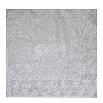 CM 20 Servilletas desechables 33x33 3 capas Argent 20 ud