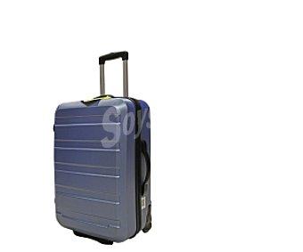 Productos Económicos Alcampo Maleta de 2 ruedas abs, Rígida, color azul celeste Medidas: 56x34x22