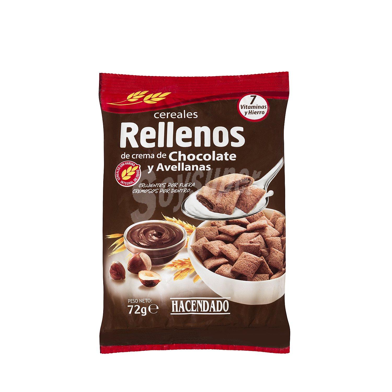 Cereales rellenos de chocolate y avellanas