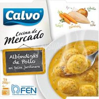 CALVO Albóndigas de pollo a la jardinera 250 g