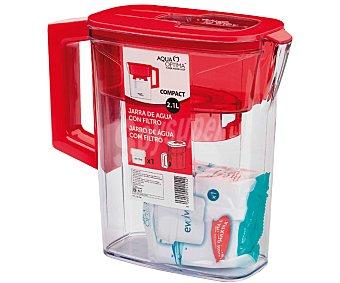 AQUA OPTIMA Jarra purificadora de 1,2 litros, color rojo 1 Unidad.