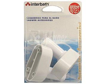 Jimten Juego de 2 soportes blancos para barra de cortina interbath