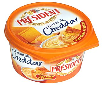 President Crema de queso cheddar 125 g