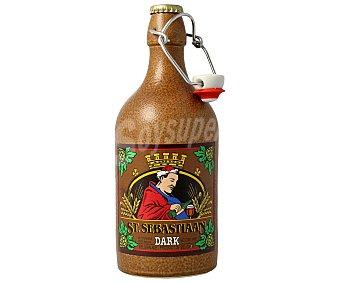 San Sebastian Cerveza Belga Negra de Importación Botella 50 Centilitros