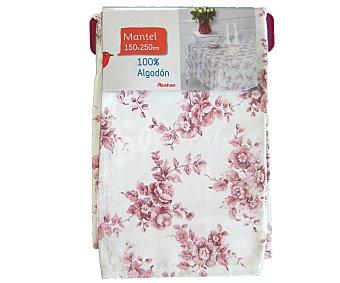 AUCHAN Mantel estampado floral color rosa, 150x250 centímetros 1 Unidad