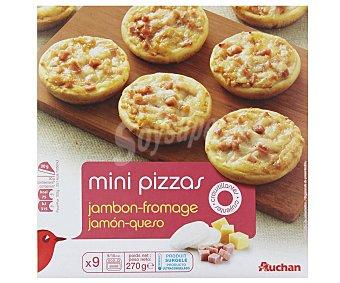 Auchan Mini pizzas de jamón y queso 270 g