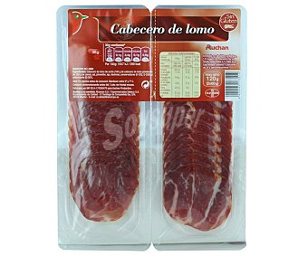 Auchan Cabecero de lomo embuchado, cortado en lonchas 2 x 60 g