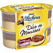 Mousse duo de chocolate blanco Pack 4x59 g La Lechera Nestlé