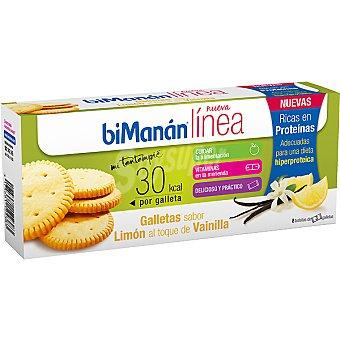 BIMANAN LINEA Mi Tentempié Galletas sabor limón al toque de vainilla Envase 156 g