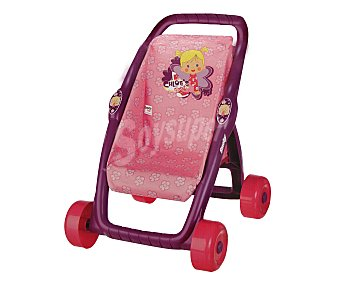 Smoby Carrito de paseo Mi primera sillita Chloe's Closet para bebés de hasta 42 centímetros, 49x36x45 centímetros 1 unidad
