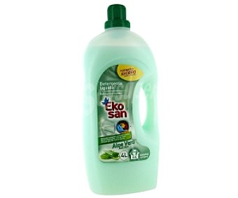 EKOSAN Detergente líquido lavado a máquina Aloe 4 Litros