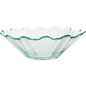 QUID Bol de vidrio con forma de girasol 21 cm