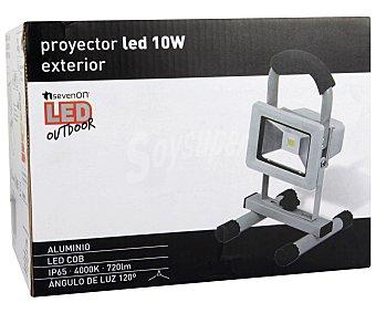 SEVENON Lámpara proyector led de exterior 10W y luz blanca natural 1 unidad