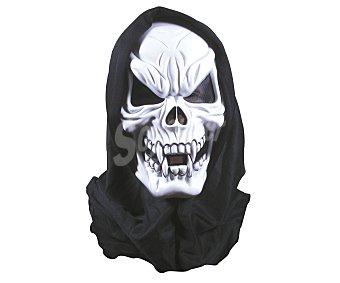 HAUNTED HOUSE Máscara Esqueleto con capucha, Halloween Máscara calavera