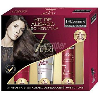Tresemmé kit de alisado Liso Keratina 7 días liso compuesto por champú + acondicionador + tratamiento con tecnología termo-activa