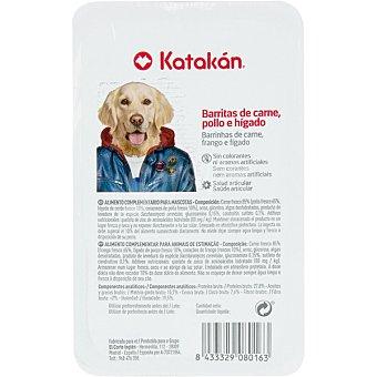 Katakán Barritas de carne pollo e hígado para perros envase 200 g envase 200 g