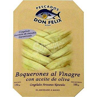 DON FELIX boquerones al vinagre con aceite de oliva  bandeja 100 g
