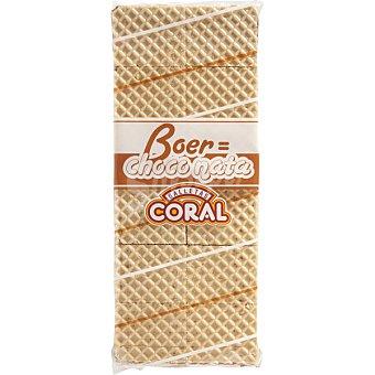 CORAL galletas de barquillo rellenas de choco nata paquete 450 g