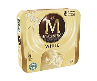 Frigo Magnum Helado de chocolate blanco Pack 3 x 110 ml
