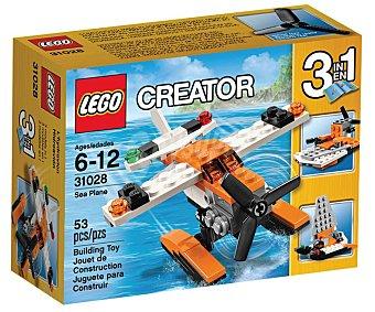 LEGO Juego de construcciones 3 en 1 Creator Hidroavión, 53 piezas, modelo 31028 1 unidad