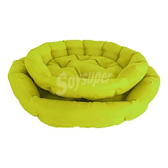 Fred & Rita Cama oval para perros y gatos color verde lima 65x65 cm 1 unidad