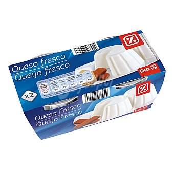 DIA Queso fresco natural Pack 2 x 250 gr