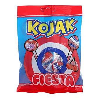 Fiesta Caramelo con palo Kojak sabor cereza 7 ud