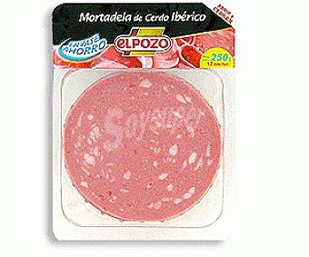 ElPozo Mortadela ibérica Bandeja 250 g