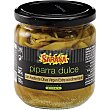 Guindillas piparra dulce con aceite de oliva virgen extra condimentado frasco 130 g frasco 130 g Sarasa