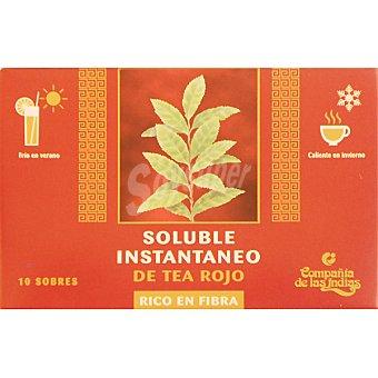 Compañia de las Indias Te rojo soluble con fibra 10 sobres caja 60 g 10 sobres 60 g
