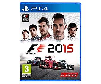 DEPORTES Fórmula 1 2015 Ps4