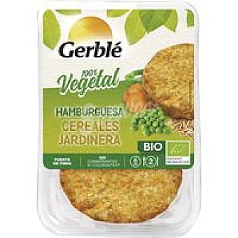 Gerblé Hamburguesa de cereales jardinera BIO Bandeja 160 g