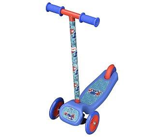 CUP´S Patinete infantil d 3 ruedas, 148cm., de largo, color azul alcampo