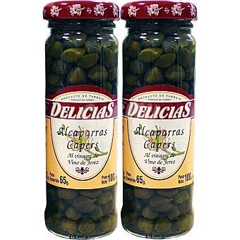 DELICIAS alcaparras surfines neto escurrido pack 2 envases 65 g