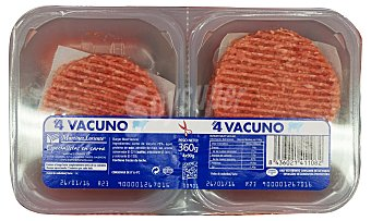 Martínez Loriente Hamburguesa ternera/magro burger meat fresco Bandeja de 360 g (4 unidades)