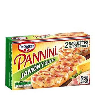 Dr. Oetker Pannini Mini jamón y queso  Estuche 240 g (8 mini baguettes)