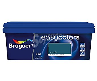 BRUGUER Pintura Decorativa Acrílica, Color Azul Añil, Easy Colors 2,5 Litros