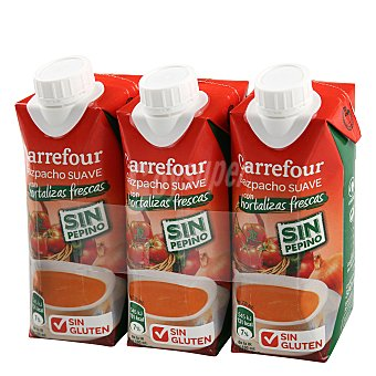 Carrefour Gazpacho suave 3x330 ml