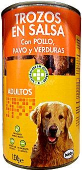 Bobby Comida perro adulto trozos pavo pollo Bote 1230 g