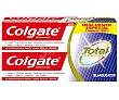 Pasta de dientes con acción blanqueante y protección hasta 12 horas 2 x 75 ml Colgate Total