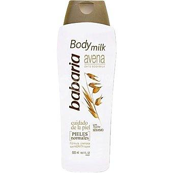 Babaria Leche corporal de avena con aceite de sésamo para piel normal Botella 500 ml