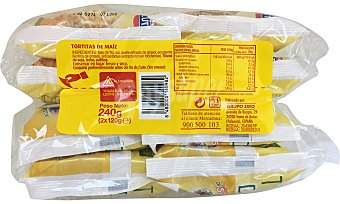 Hacendado Tortita maiz Paquete pack 2 x 120 g - 240 g
